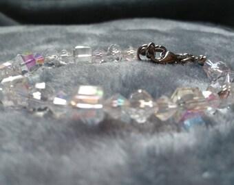 Clear AB Austrian Crystal Bracelet