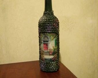 Beautiful bottle vase, home decor, kitchen decor, vase, carafe
