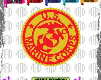 Marine Corps, Cut Files, EPS, SVG, PNG, Vector