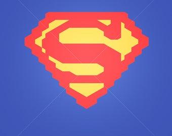Superman svg file Superman logo superheroes svg avengers logo svg Superhero cut superhero logo logo svg cricut silhouette cutting file