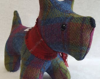 Harris Tweed Scottie Dog Doorstop