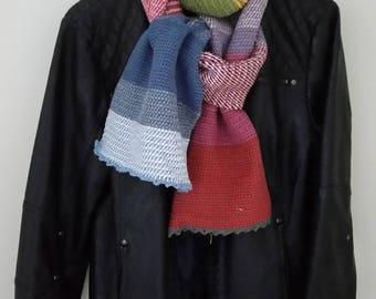 Tunisian crochet long scarf