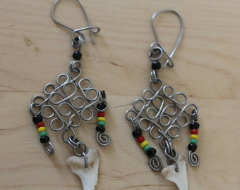 Earrings style Native American surgical steel