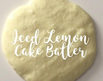 Iced Lemon Cake Batter