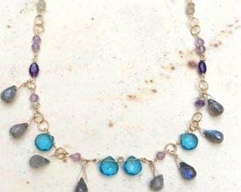 London Blue with Labradorite Necklace