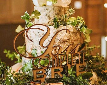 """Wedding Cake Topper """"You complete brie"""" cheese cake"""