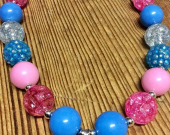 "Kid's Bubblegum bead necklace ( ""Frozen"" inspired)"