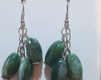 Greyish Green Earring Dangles