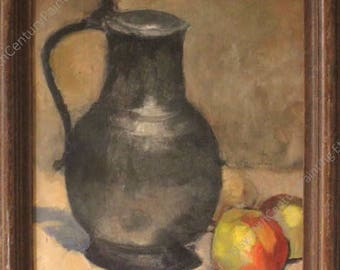 Still Life, Jug and apples (detail), 1900-10 - oil on board