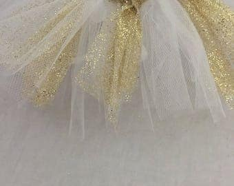 White and Gold Tulle Tutu