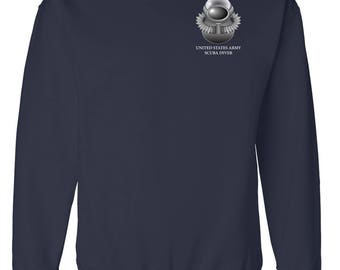 US Army SCUBA Embroidered Sweatshirt-7787