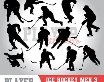 Ice Hockey Men SVG, Ice Hockey Sport svg, Ice Hockey digital clipart, athlete silhouette, Ice Hockey Men, cut file, design, A-038