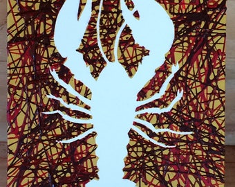 Negative & Positive Lobster Painting