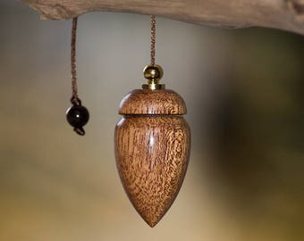 Mahogany, Tiger eye stone pendulum