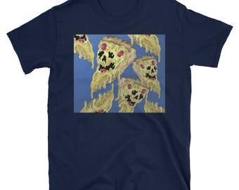 Doodle Pizza - T-Shirt - Unique t shirt - art tshirt - punk clothing for men - skateboarding shirt