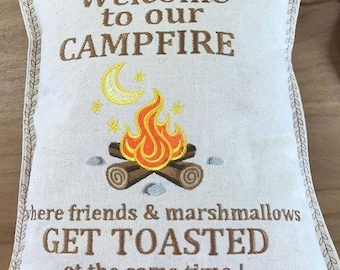 Mini Welcome to our Campfire Pillow
