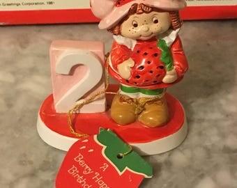 Vintage Strawberry Shortcake Berry Happy Birthday Statue 2nd Birthday
