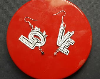 Valentine's Day gift IDEA earrings-drawings | Unique pieces