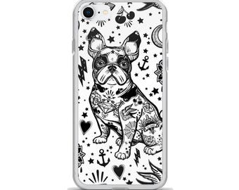 Tattooed Dog Phone Case, Tattoo Flash Phone Case, Boston Terrier Phone Case, Graphic Phone Case, Art Phone Case, iPhone Case, Made to Order