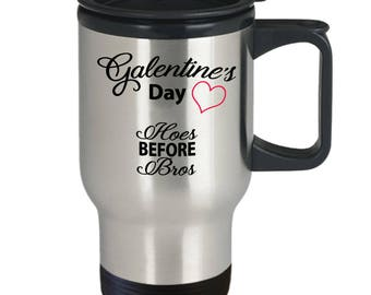 Unbiological Sister Mug - Galentine Valentine Day Heart - Best Friend Gift BFF Tribe Soul Sorority - 14oz Stainless Steel Coffee Travel Mug