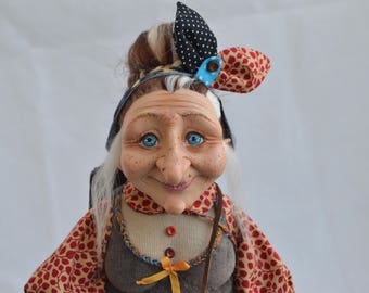 Baba Yaga , Witch. Interior doll by Anastasia Adamovich,
