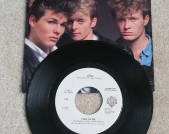 """A-ha (7"""") - Take On Me (promo copy with comic insert/hard to find)"""