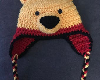 Winnie the Pooh Crochet Beanie *infant, toddler, child, teen, adult sizes available*
