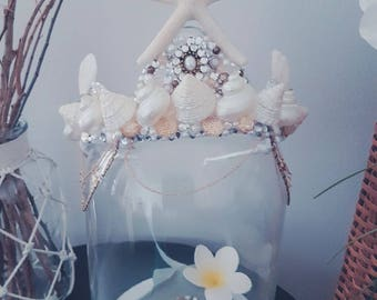 White and gold mermaid crown