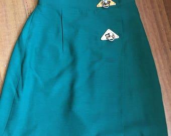 Vintage high waisted skorts! Emerald green size S