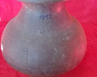 Authentic Antique Ottoman Art Style Design  Copper Pot/Lota #1452