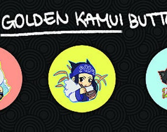 "1.5"" Golden Kamui Buttons"