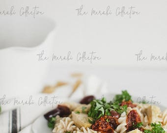 Mediterranean Pasta Stock Photo/ Images for health, wellness & fitness Bloggers, Coaches and Entrepreneurs