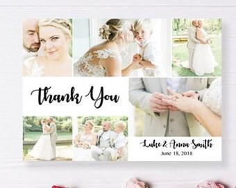 PRINTABLE Thank You Card - 6 Photos