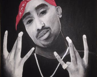 SOLD OUT- Tupac Shakur art custom acrylic painting