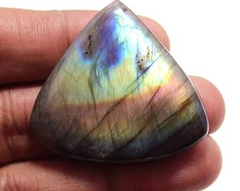 77.04cts Natural Multi flash Labradorite Heart 40x37x7 mm  Labradorite loose gemstone amazing & beautifull Labradorite nice flash AA-46
