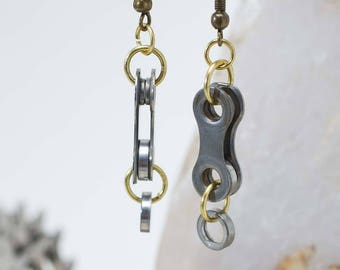 Bicycle Chain Broken Link Earrings