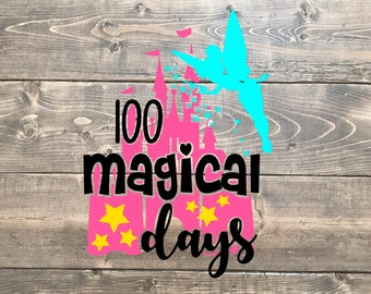 100 days svg, 100th day of school svg, Disney svg, 100 magical days, castle, school, 100 days, SVG, 100 days shirt, girls svg cutter, cricut
