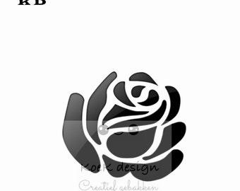 cookie stencil one rose