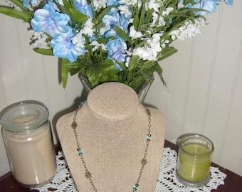 Rustic Floral Necklace