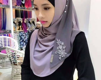 Hassle free slip-on hijab/scarf