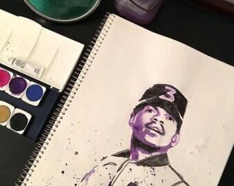 Chance the Rapper - Original Water Colour