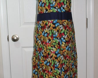 Adult Multi Color Butterfly Apron