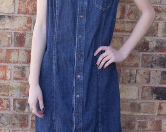 Vintage 90s Tommy Hilfiger Denim Dress