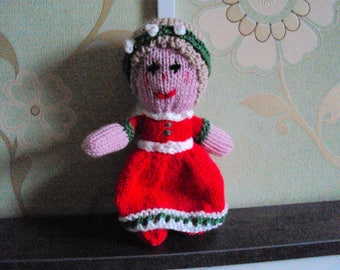 Hand-knitted doll - Rosy