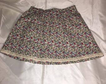 belle jupe fleuris 100% coton