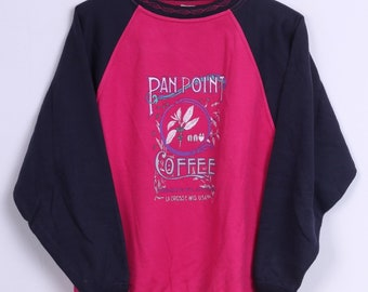 Samar Womens M Jumper Pink Pan Point Coffe Italy Sweater