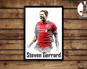 Steven Gerrard print wall art home decor poster