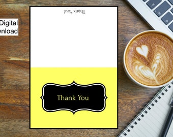 Thank You Card/Thank You Card Printable/Digital Download