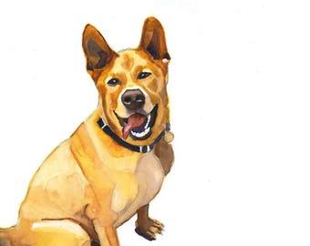 "Custom Pet Portrait, Simple Background 5""x7"""