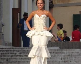 Corset Dress Wedding in Ivory